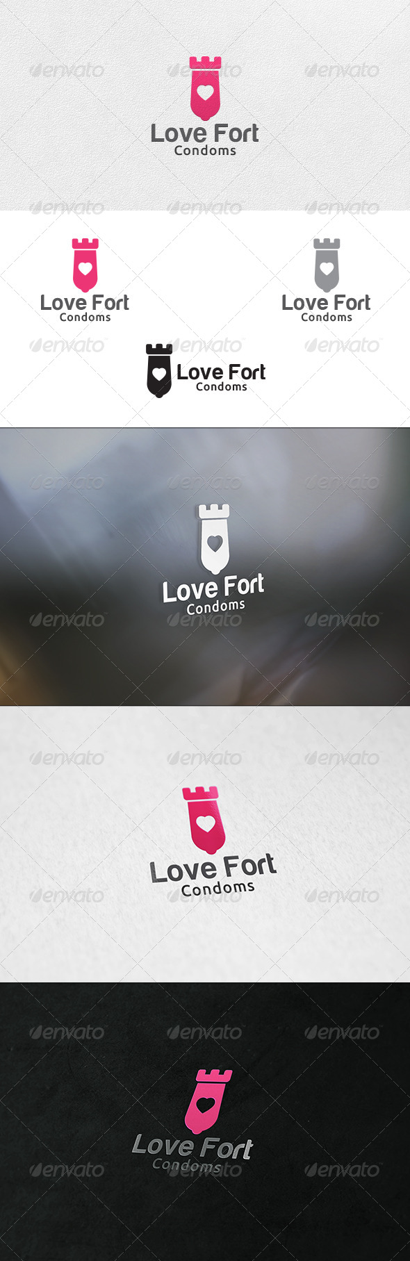 GraphicRiver Love Fort Logo Template 6628060