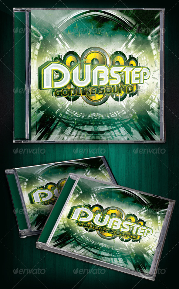 Dubstep Album Template - CD & DVD Artwork Print Templates