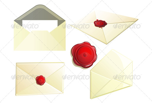 GraphicRiver Set of Envelope with Seal 6628939