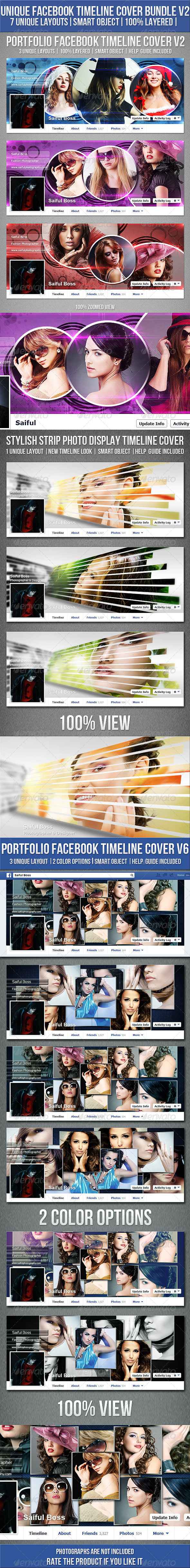 GraphicRiver Facebook Timeline Cover Bundle V2 6629371