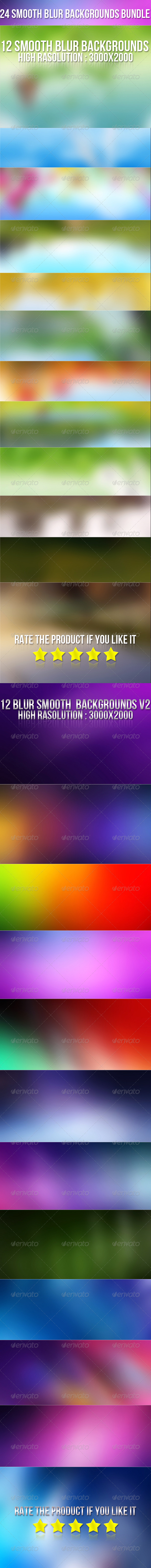 GraphicRiver 24 Smooth Blur Background Bundle 6629397