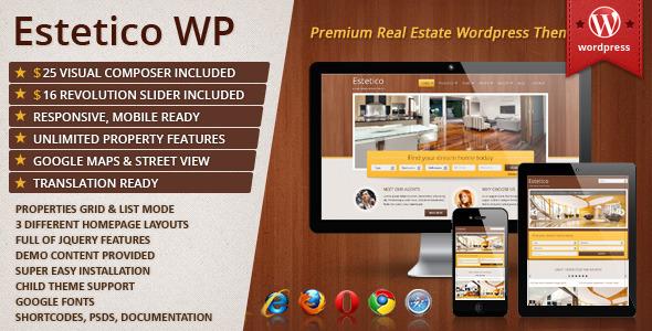 ThemeForest Estetico Premium Real Estate WP Theme 6580371