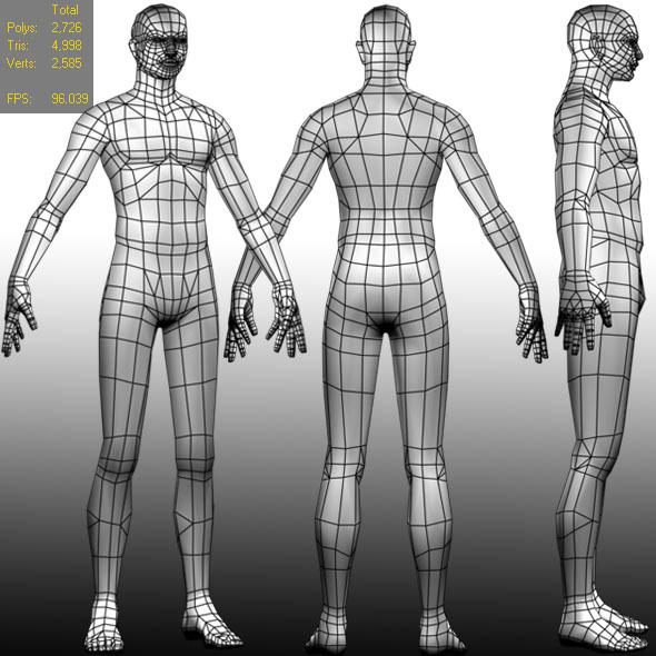 3DOcean Low polygon Base mesh Male 695694
