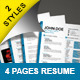 Resume with Two Styles - GraphicRiver Item for Sale