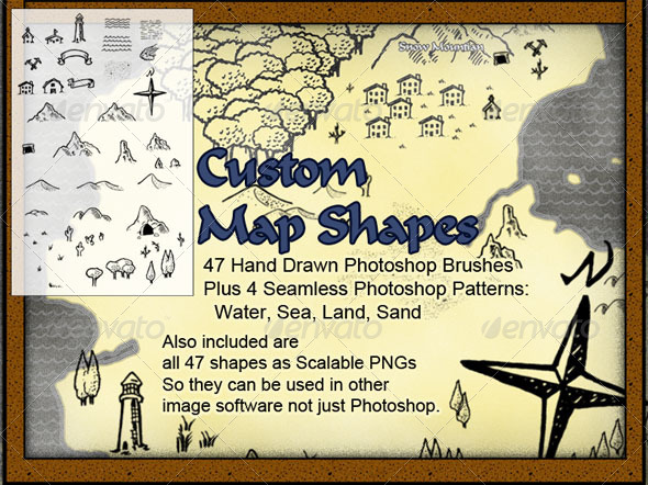 GraphicRiver Custom Map Brushes 6630128