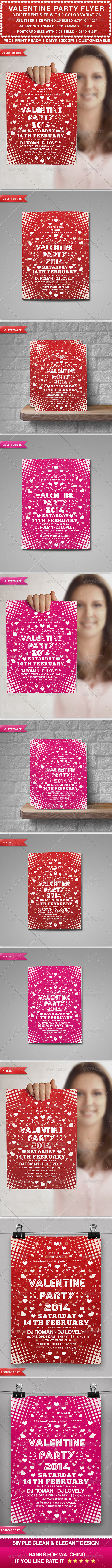 GraphicRiver Valentine s Party Flyer 6614504