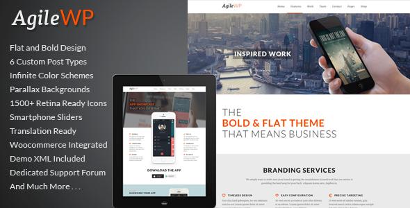 ThemeForest Agile Multi-Purpose App Showcase WordPress Theme 6631729