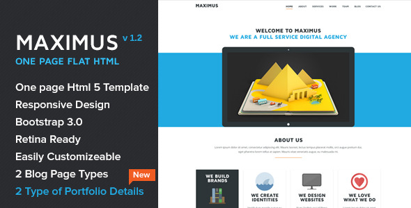 Maximus - HTML 5 One Page Responsive Theme