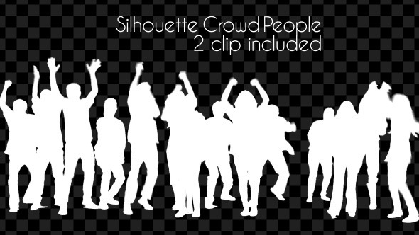 Silhouette Crowd People