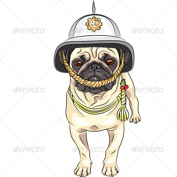 GraphicRiver Pug in Helmet 6632181