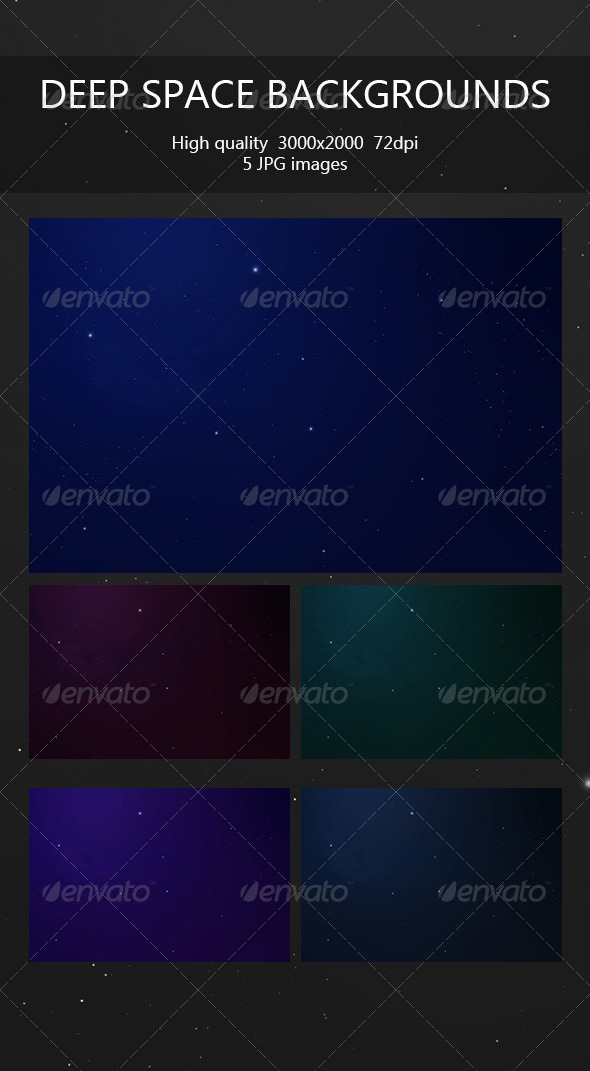 GraphicRiver Deep Space Backgrounds 6632714
