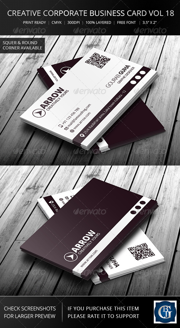 GraphicRiver Creative Corporate Business Card Vol 18 6633713