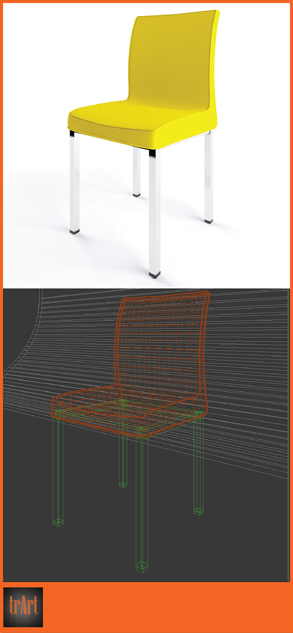 3DOcean Realistic Armchair 6633984
