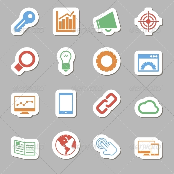 GraphicRiver Seo Icons as Labes 6633993