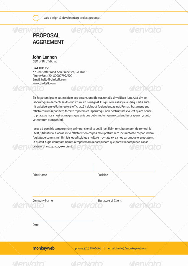 Web Design Proposal by broluthfi | GraphicRiver