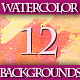 Set of 12 Colorful Watercolor Backgrounds, 2