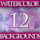 Set of 12 Colorful Watercolor Backgrounds, 3