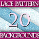 Set of Soft Blue Lace Pattern Backgrounds