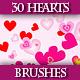 Set of Hearts Brushes for Adobe Illustrator