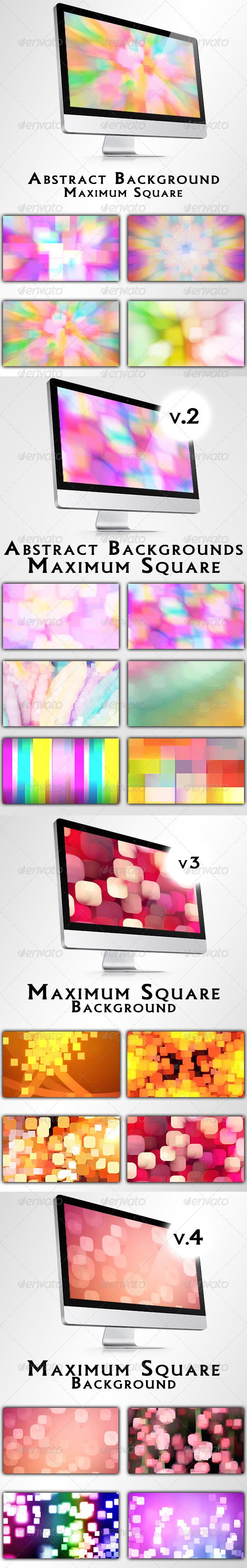 GraphicRiver Maximum Square Backgrounds Bundle 6634883