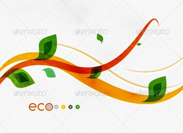 GraphicRiver Green Eco Nature Minimal Floral Concept 6634907