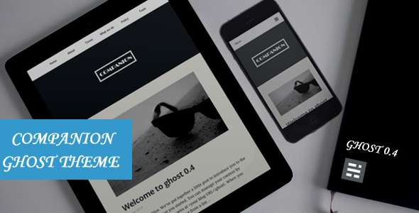 Companion Clean and responsive ghost theme - Ghost Themes Blogging