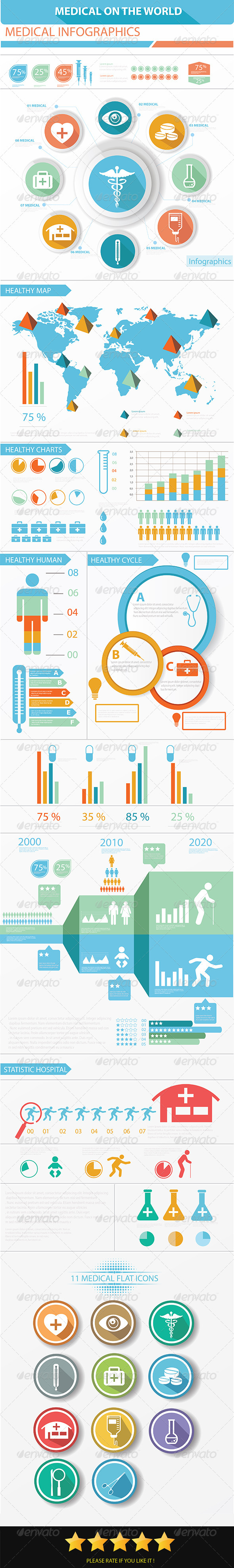 GraphicRiver Medical Infographics Elements 6634960