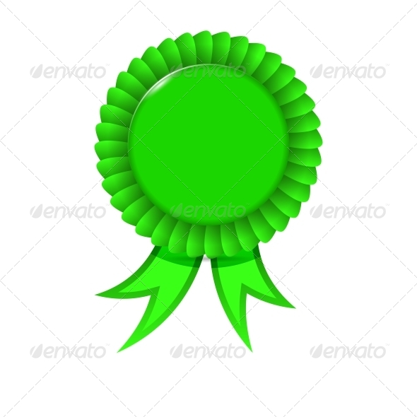 GraphicRiver Award Green Ribbon 6635093