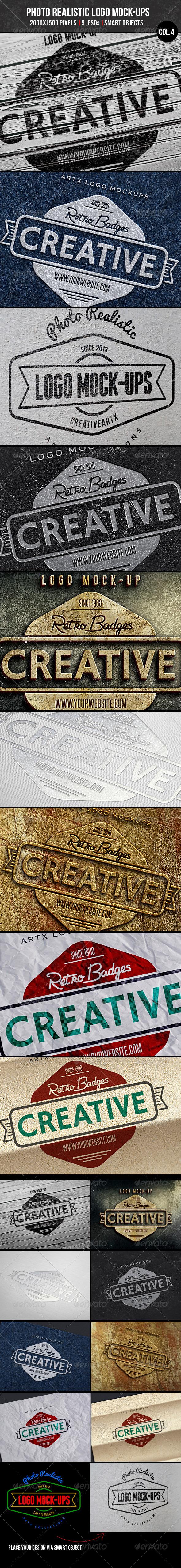 GraphicRiver Photorealistic Logo Mock-Ups Col.4 6635423