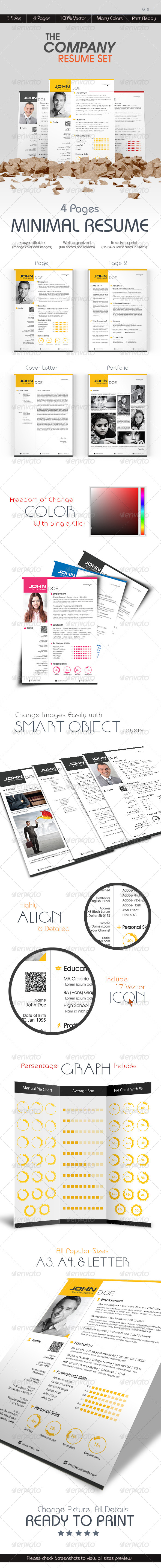 GraphicRiver The Company Resume Set 6635592