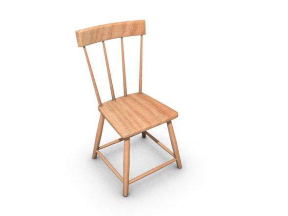 3DOcean Wooden chair 6635596