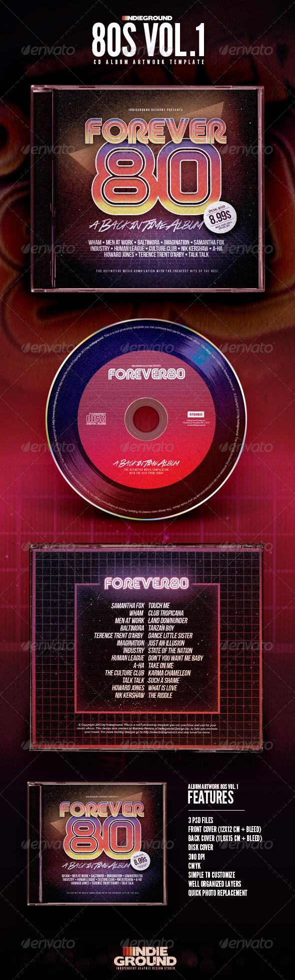 GraphicRiver 80s CD Album Artwork 6635651