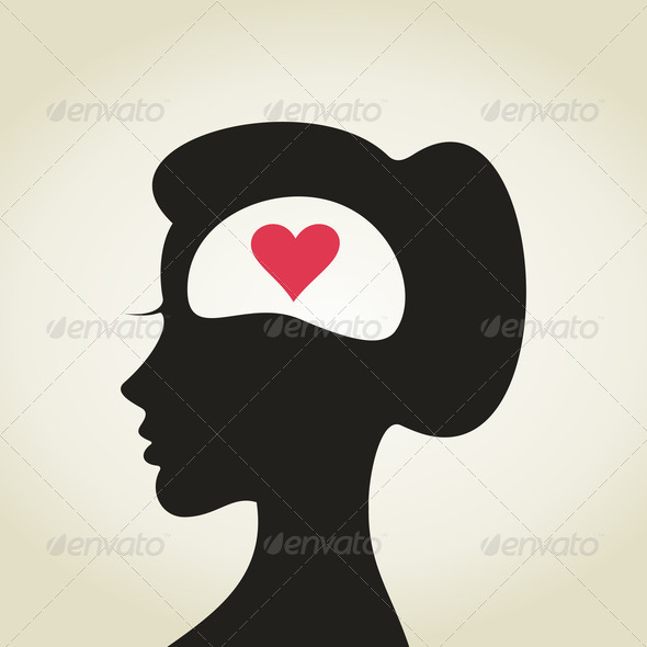 Heart in a head2 - Stock Photo - Images