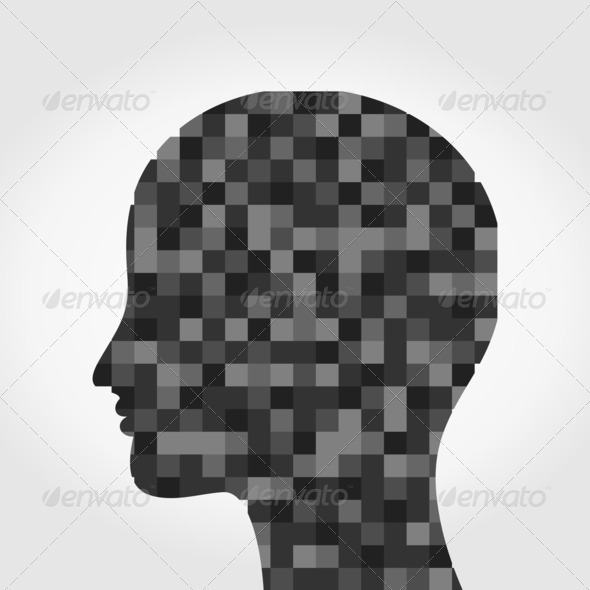 Head a mosaic - Stock Photo - Images