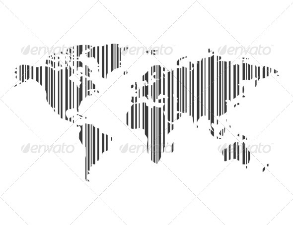 Map stroke a code - Stock Photo - Images