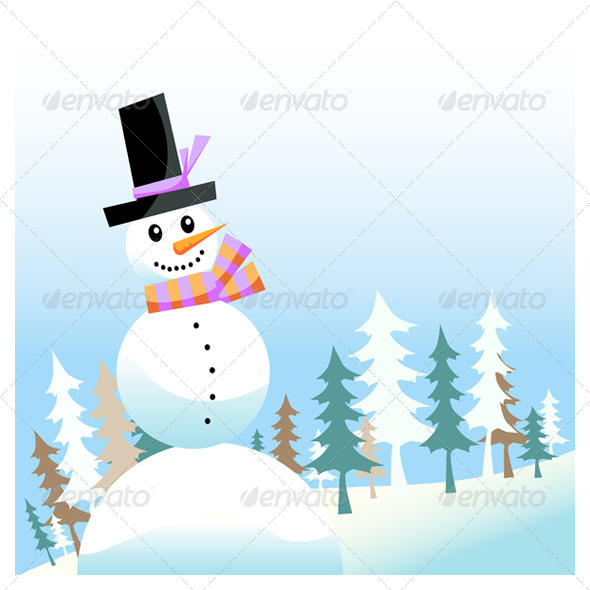 GraphicRiver Snowman 6635901
