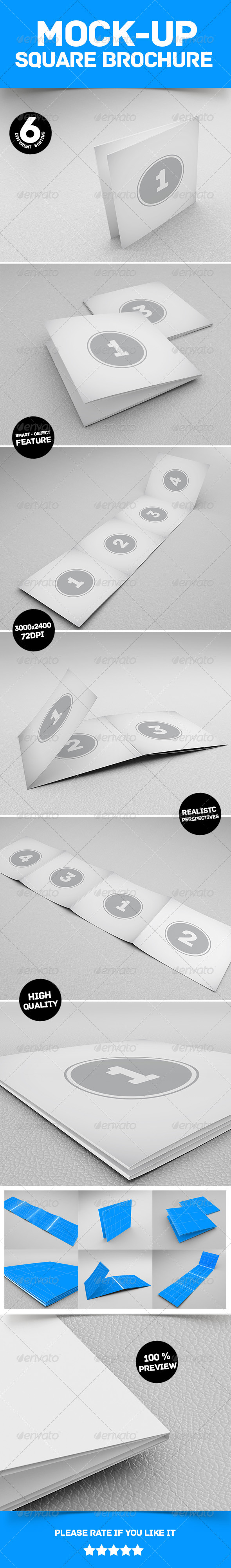 GraphicRiver Mockup Square Brochure 6636028