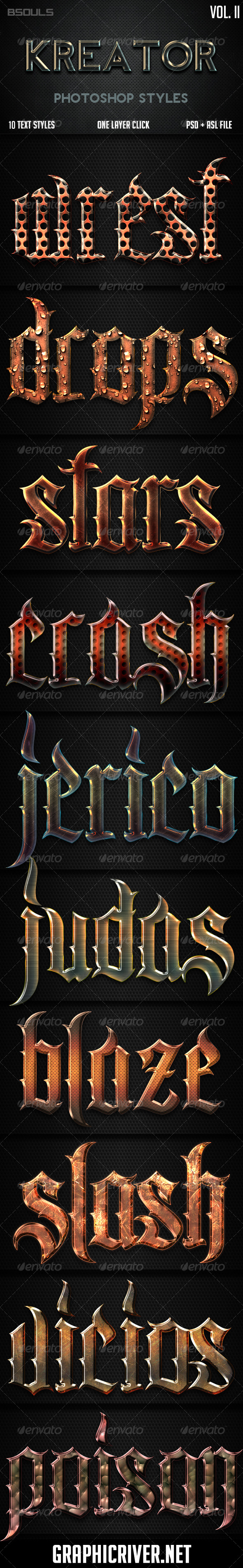 GraphicRiver Kreator Photoshop Styles Vol II 6618501