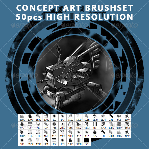 GraphicRiver Concept Art Brushes Textures Particles and more 6614888