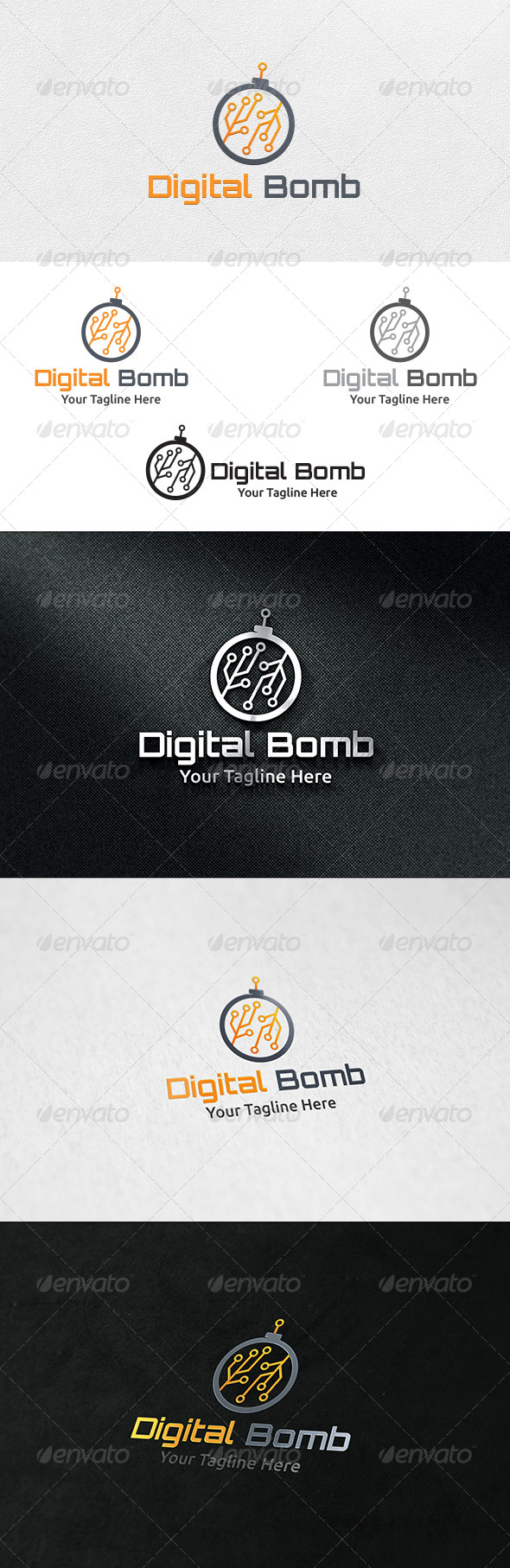 GraphicRiver Digital Bomb Logo Template 6636685
