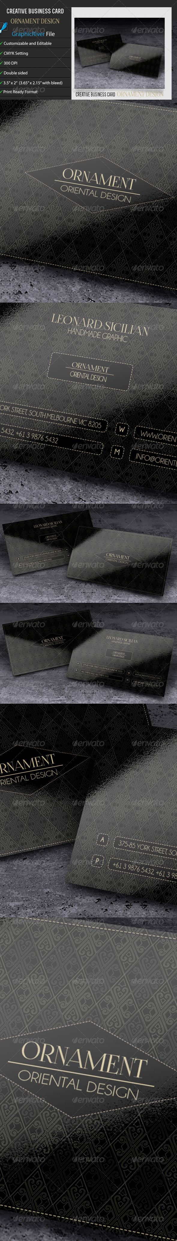 GraphicRiver Creative Business Card Ornament Design 6636788