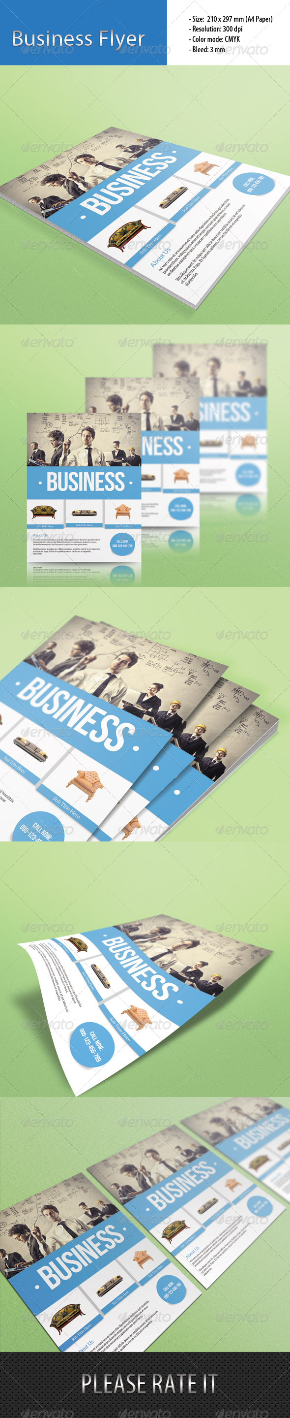 GraphicRiver Multipurpose Business Flyer 6636794