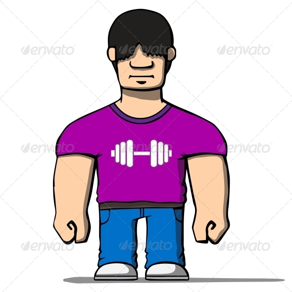 GraphicRiver Cartoon Strongman 6636848