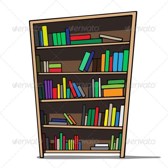 GraphicRiver Cartoon Bookshelf 6636852