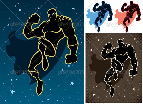 GraphicRiver Superhero In The Sky 6636855