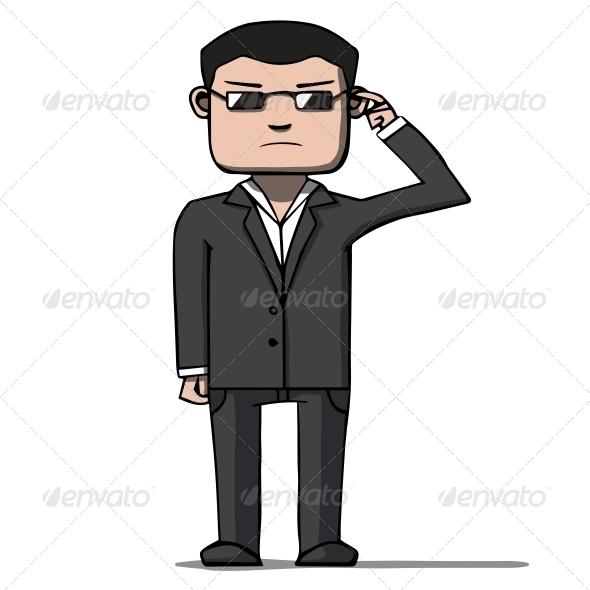 GraphicRiver Cartoon Security Bodyguard 6636880