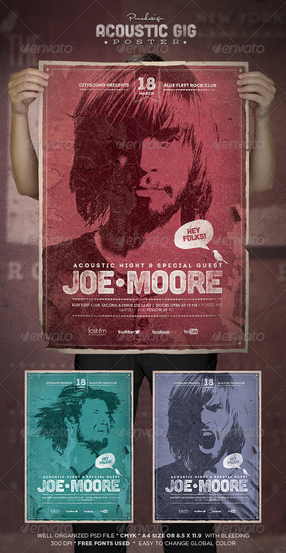 GraphicRiver Acoustic GIG Poster 6637026