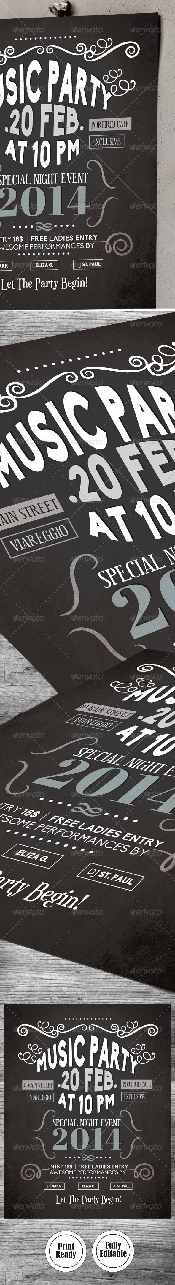 GraphicRiver Party Flyer nЎг1 6610747