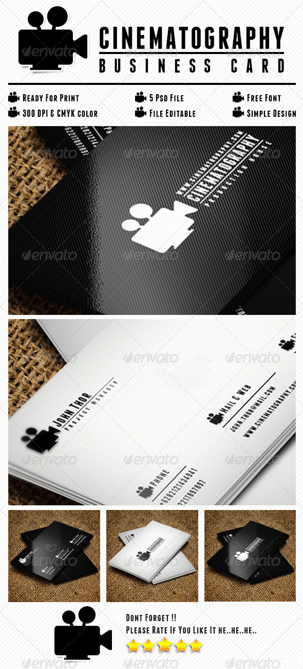 GraphicRiver Cinematography Card 6637670