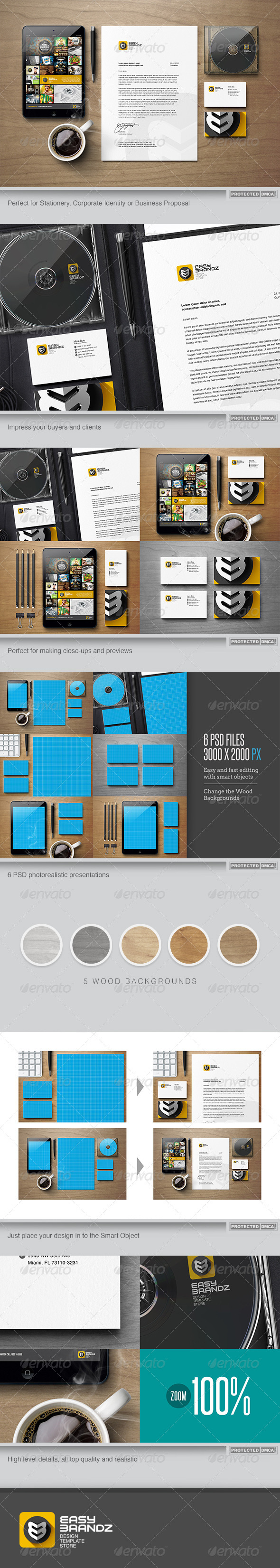 GraphicRiver Stationery Mockups Vol.01 6539983